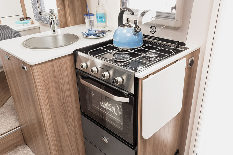On-board oven and hob
